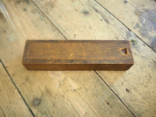 Handmade wooden box - brass rules