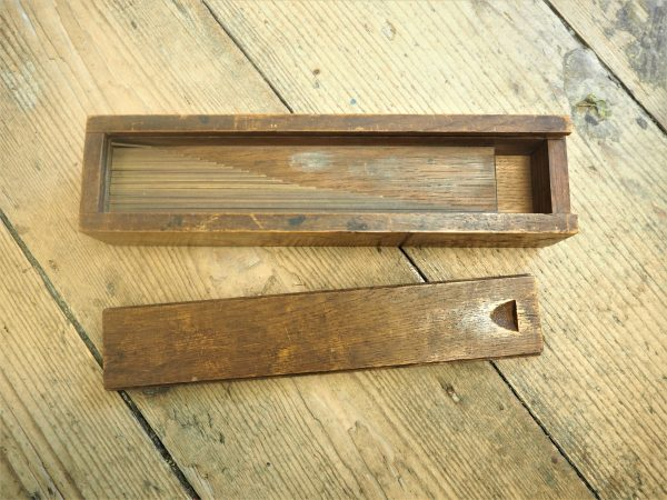 Brass Rules in handmade wooden box