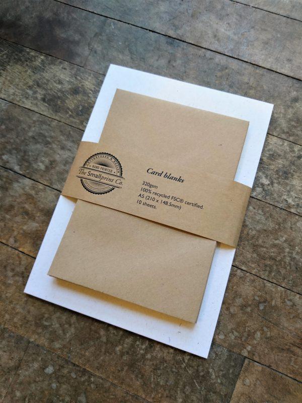 Card blanks with kraft envelopes