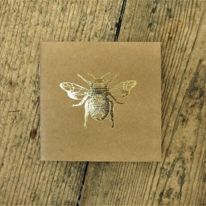Gold Bee Square Notebook