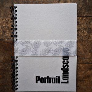 Landscape Portrait Wire bound notebook