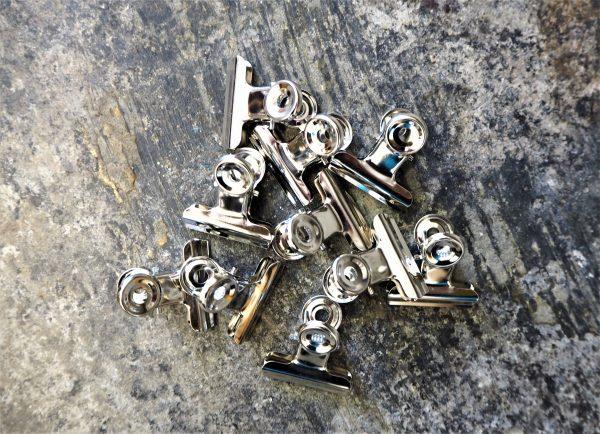 Bulldog clips - nickel