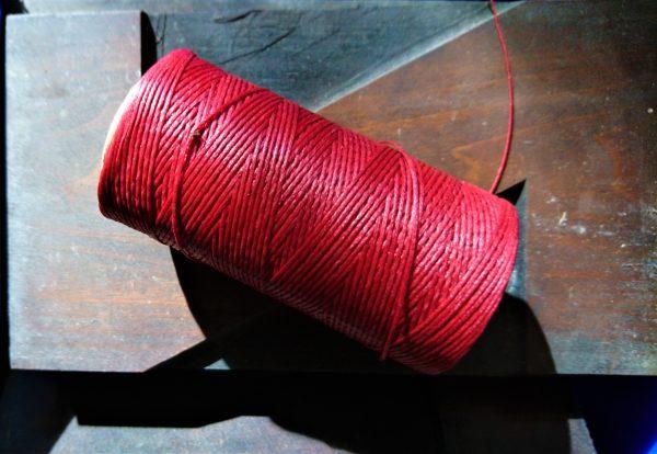 Red Wine Waxed Thread
