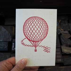 Hot Air Balloon Greetings Card