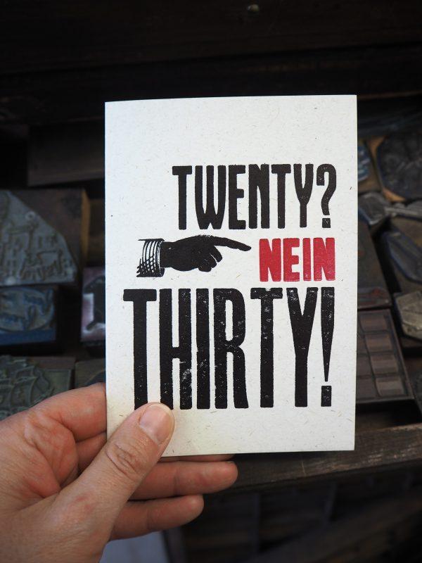 Twenty Nein Thirty Birthday Card