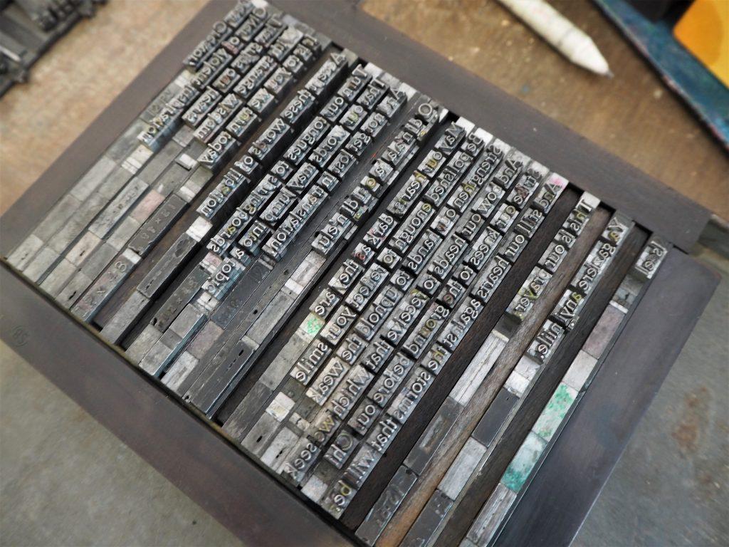 Typesetting, in the forme Ndukwe Onuoha