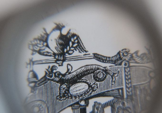 Close up of a letterpress illustration. Photo by Jemma