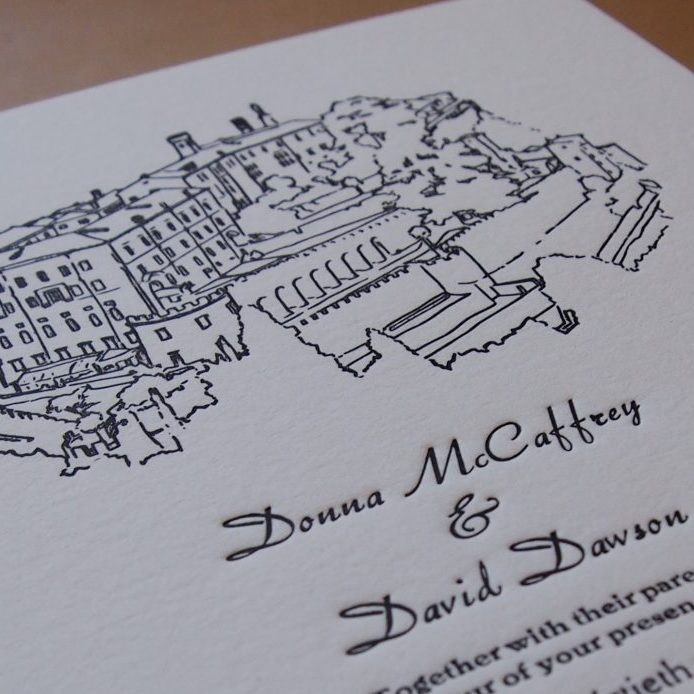 Hand Illustrated Wedding Invitation (A5)