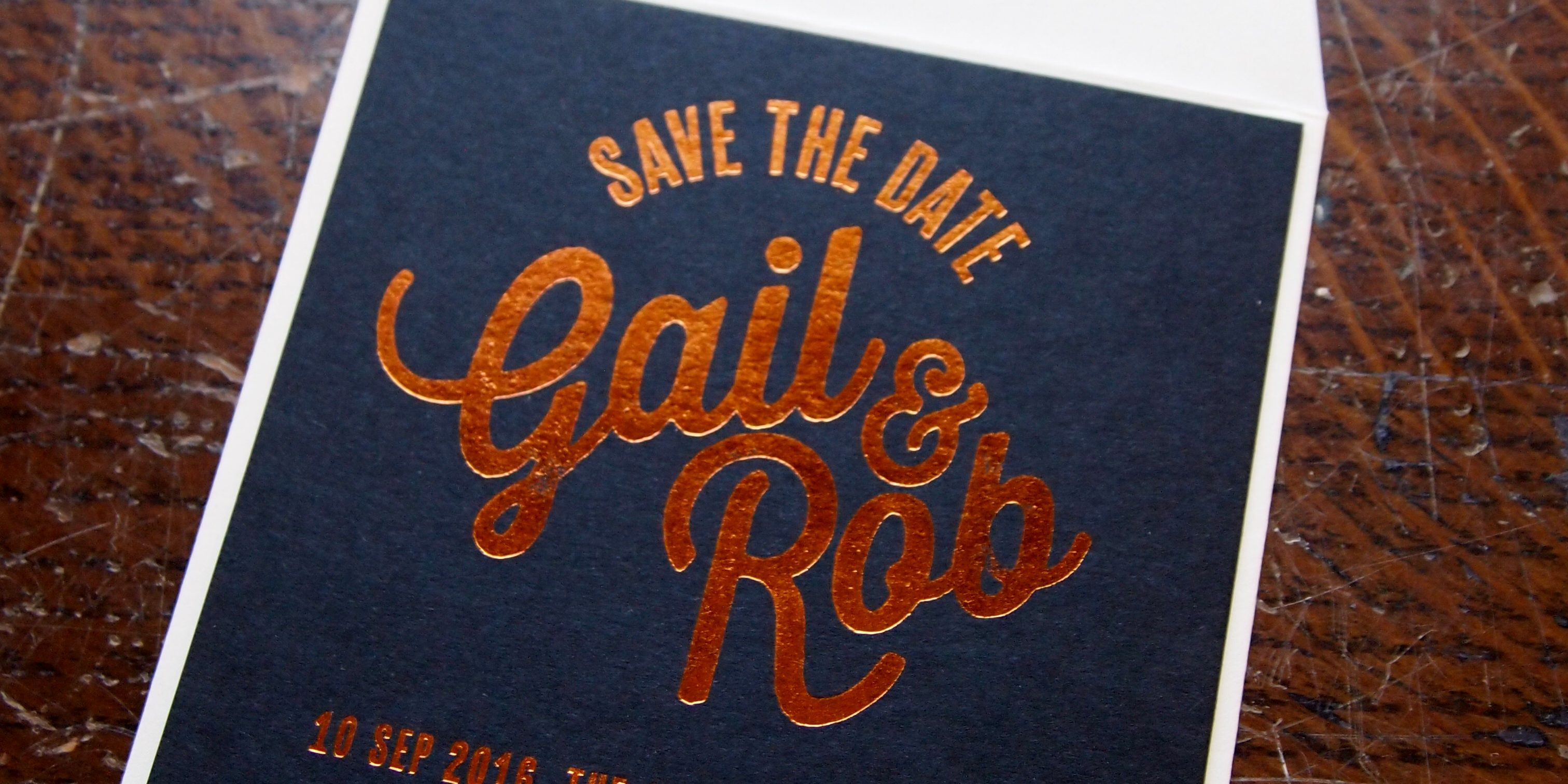 Save the Date Coasters with Hot Foil