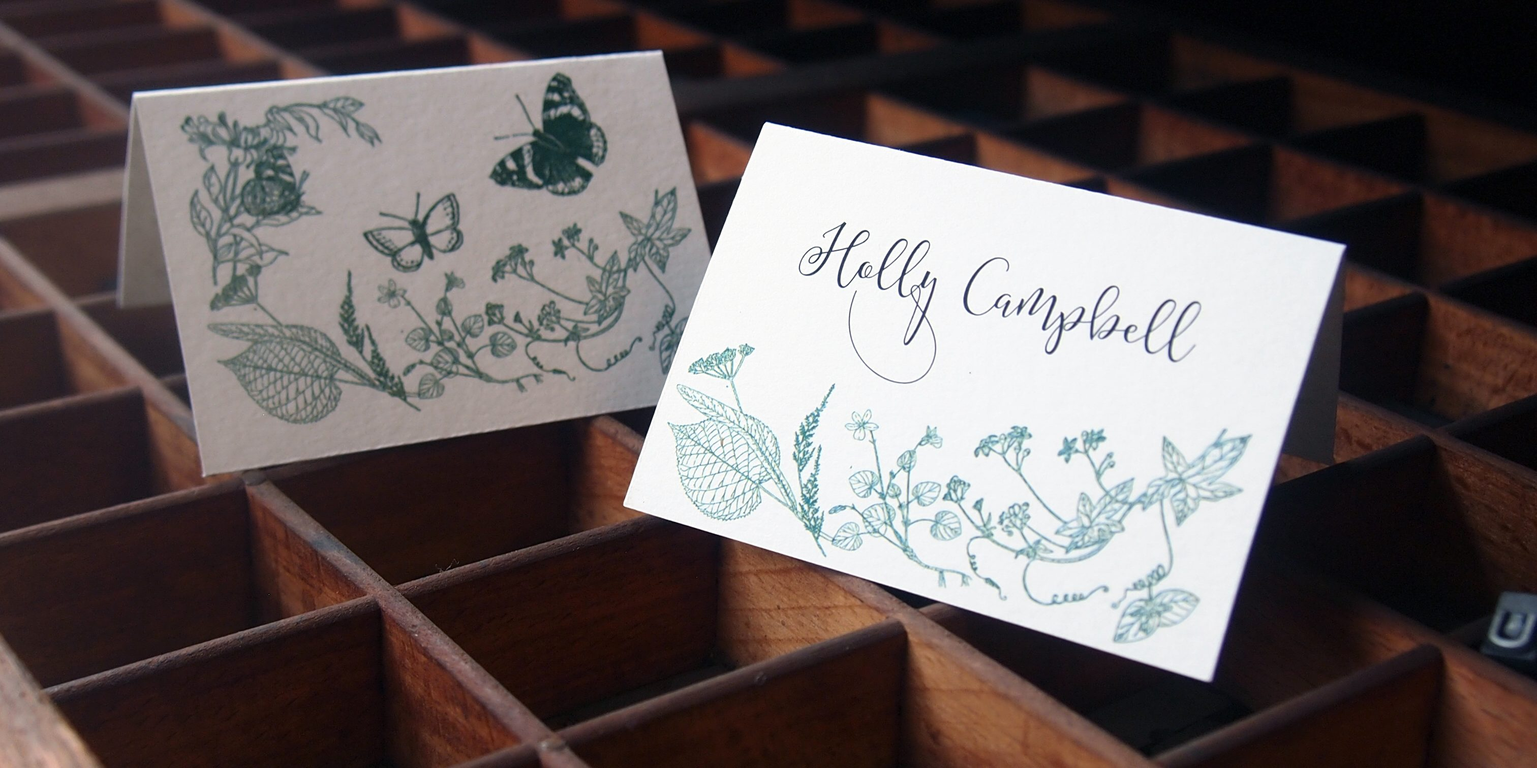 Wild flower Place cards